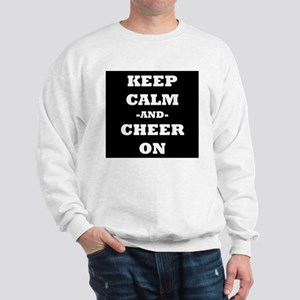 Keep Calm And Cheer On (Black) Sweatshirt