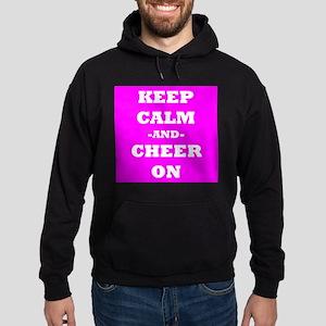 Keep Calm And Cheer On (Pink) Hoodie