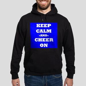 Keep Calm And Cheer On (Blue) Hoodie