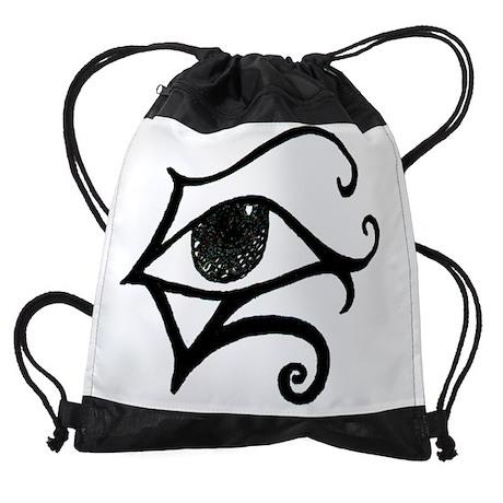 egyptinaeyewhite.JPG Drawstring Bag