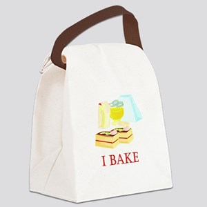 i bake cakes Canvas Lunch Bag