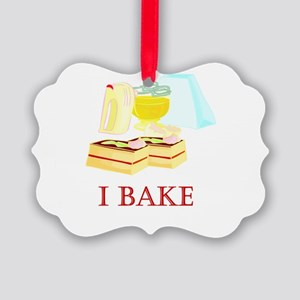 i bake cakes Picture Ornament