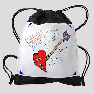17 inch Laptop sleeve Valentine Arr Drawstring Bag
