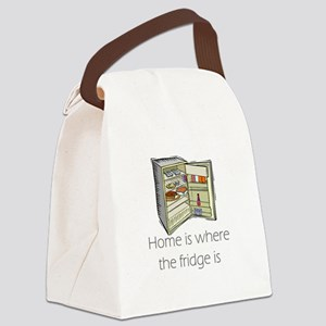 where the fridge is Canvas Lunch Bag