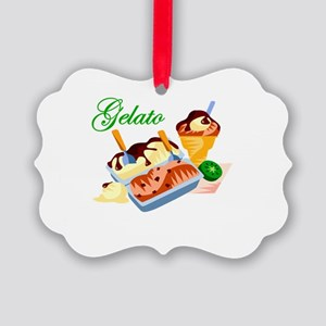 gelato Picture Ornament