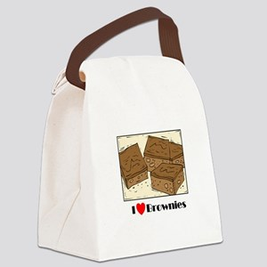 i love brownies Canvas Lunch Bag