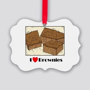 i love brownies Picture Ornament