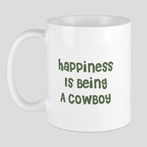 Happiness Is Being A COWBOY Mug