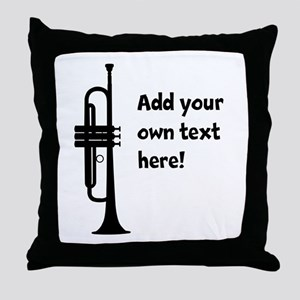 Custom Trumpet Throw Pillow