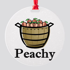 peachy Round Ornament