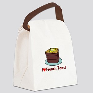 i love french toast Canvas Lunch Bag