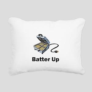 batter up Rectangular Canvas Pillow