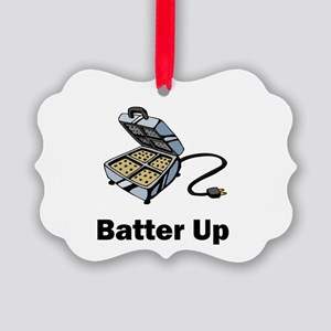 batter up Picture Ornament