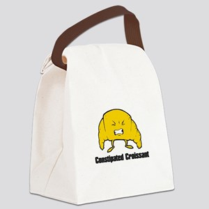 constipated croissant Canvas Lunch Bag