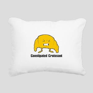 constipated croissant Rectangular Canvas Pillo