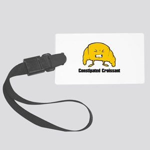 constipated croissant Large Luggage Tag