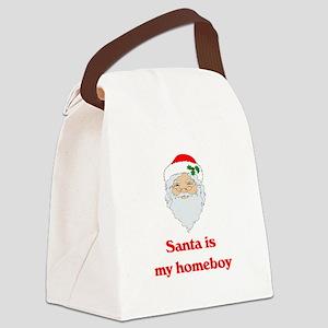 santa is my homeboy Canvas Lunch Bag