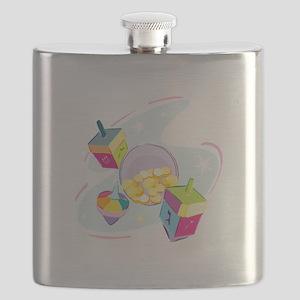 pastel dreidels Flask