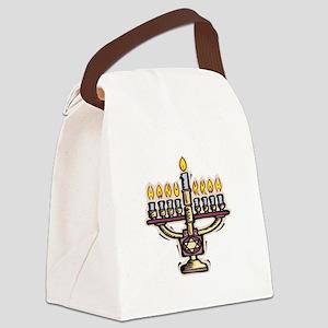 lit menorah Canvas Lunch Bag