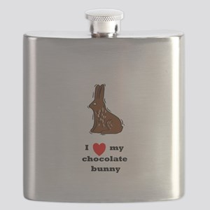 i love my chocolate bunny Flask