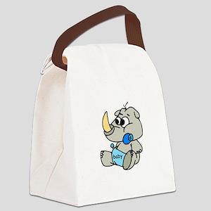 baby rhino Canvas Lunch Bag