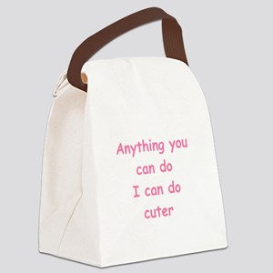 cuter pink Canvas Lunch Bag
