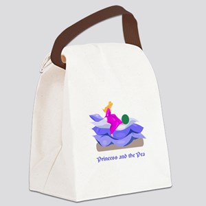 princess and the pea Canvas Lunch Bag