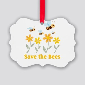 save the bees Picture Ornament