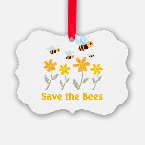 save the bees.png Ornament
