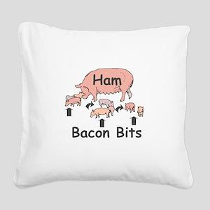bacon bits Square Canvas Pillow