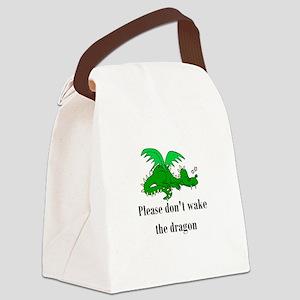 sleepy dragon Canvas Lunch Bag