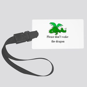 sleepy dragon Large Luggage Tag