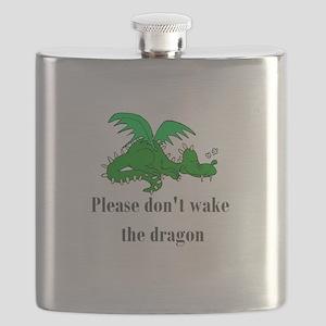 sleepy dragon Flask