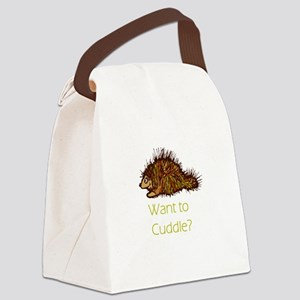 want to cuddle Canvas Lunch Bag