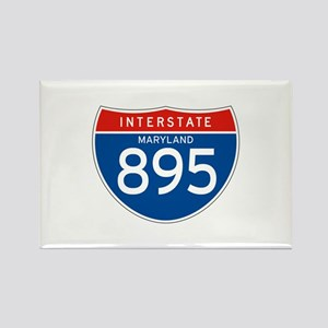 Interstate 895 - MD Rectangle Magnet