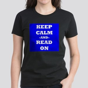 Keep Calm And Read On (Blue) T-Shirt