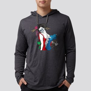 Zombie Geisha Mens Hooded Shirt