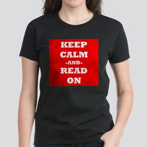 Keep Calm And Read On (Red) T-Shirt