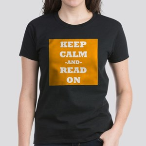 Keep Calm And Read On (Orange) T-Shirt