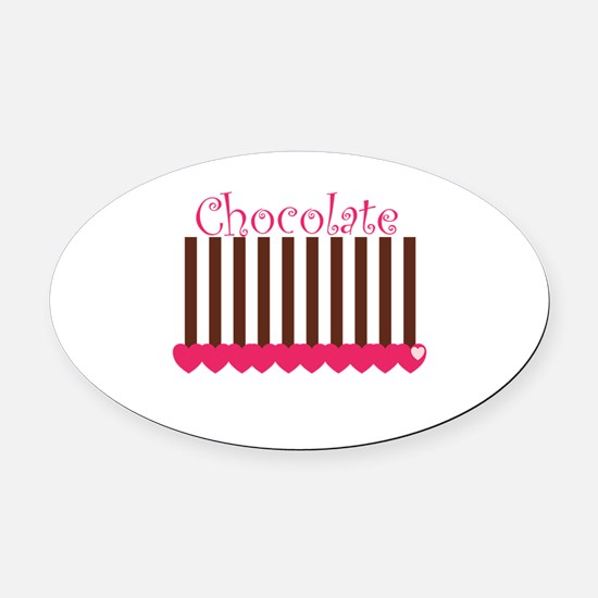 choc bar.png Oval Car Magnet