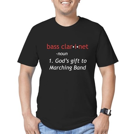 Bass Clarinet Definition Men's Fitted T-Shirt (dar