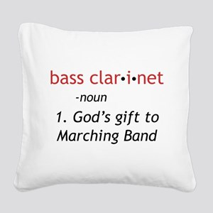 Bass Clarinet Definition Square Canvas Pillow
