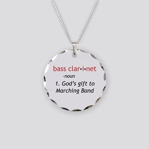 Bass Clarinet Definition Necklace Circle Charm