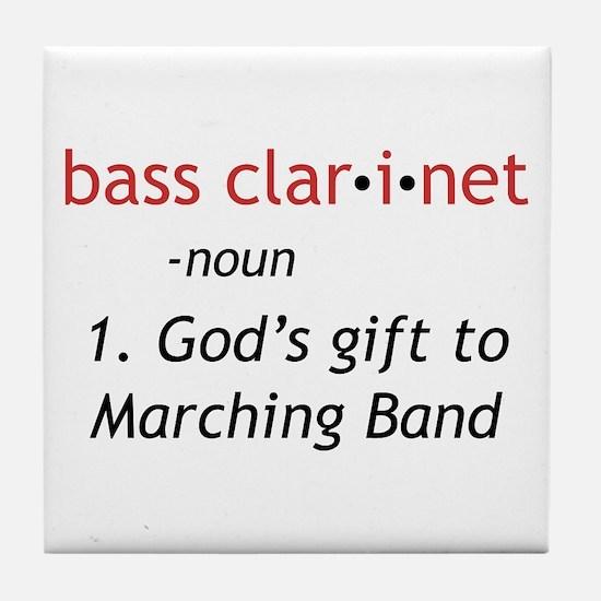 Bass Clarinet Definition Tile Coaster