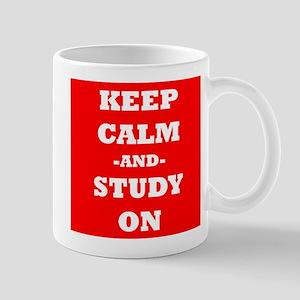 Keep Calm And Study On (Red) Mug