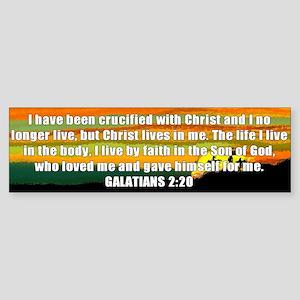 Galatians 2:20 Bumper Sticker