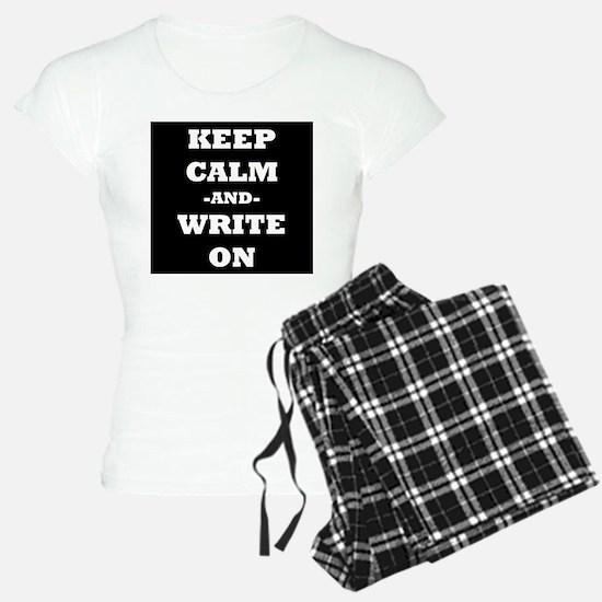 Keep Calm And Write On (Black) Pajamas
