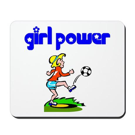 Girl Power Soccer Mousepad