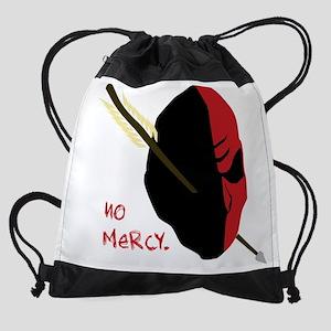 NO MERCY red Skull Drawstring Bag