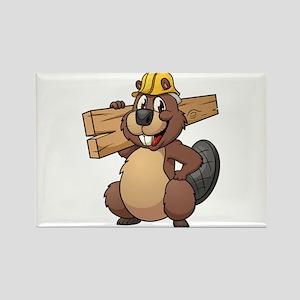 Beavers Wood and Stuff Beaver Rectangle Magnet